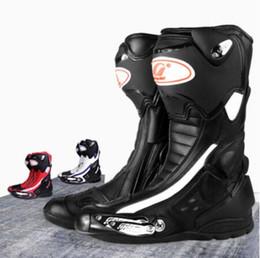 Stivali da corsa per moto da uomo Calzature protettive alla caviglia a metà polpaccio Moto Moto Scarpe da equitazione Protezioni per i piedi da stivali mela in tacco fornitori
