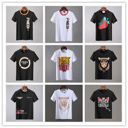 etichetta nera rosa Sconti 2019 Nuovo arrivo Estate Tees T-shirt da uomo di alta qualità D2 Stampa People Abbigliamento moda Giallo Nero Bianco Taglia M-3XL