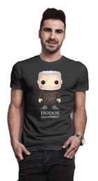 Bling art en Ligne-Jeu de trônes Hodor Bling Art Cartoon T-Shirt Officiel Hommes Hommes Hommes Unisex Mode t-shirt