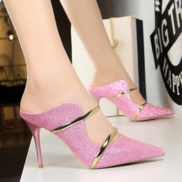 eb7f253b2411 2009 New Fashion Sexy Night Club Women s Shoes Fine-heeled High-heeled  Sequins Summer Sandals and Slippers