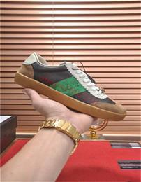 scarpa bassa per la signora Sconti 2019 GUC GG G74 Series Lace Print Low Top Sneakers Uomo Scarpe casual moda casual da donna di lusso retrò 35-44