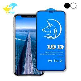 Canada 10D Verre Trempé Courbé Pour Iphone 8 9 X XR XS Protecteur D'écran Pleine Couverture De Colle pour iPhone6 6S 7 8 Plus X Film 3D Bord Offre