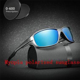 93e0199195 men Custom Made Myopia Minus Prescription Lens prescription Men Polarized  rectangle Sunglasses Driving goggles with box FML