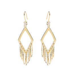 Модные бриллиантовые круги с кисточками 925 пробы Серебряные серьги с подвесками от