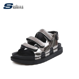 sandalias de plataforma plana de punta abierta Rebajas Sandalias Mujer 2017 Plataforma Transpirable Sandalias Cómodo Open Toe Girls Casual Shoes AA40445