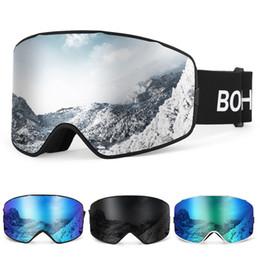 Gafas para esquiar online-UV400 Gafas de Esquí y Nieve Deportes OTG anti-vaho gafas de snowboard Escalada gafas de esquí Gafas Hombres Mujeres