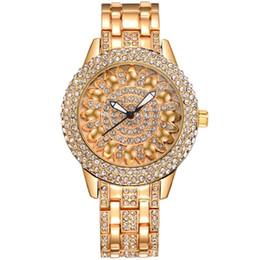 2019 lotus edelstahl armband BAOSAILI Klassische Lotus Strass Legierungsband Edelstahl Zurück Fall Armbanduhr für Damenmode Armbanduhr rabatt lotus edelstahl armband