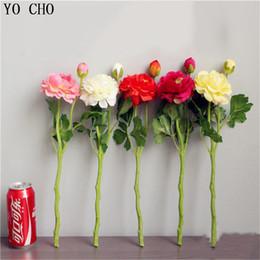 Canada Soie Fleurs Rose Fleurs Artificielles 3 Têtes Pivoines Blancs Rouge Rose Bleu Faux Fleur De Mariage Décor pour La Maison Pivoine Bouquet supplier artificial blue silk peonies Offre