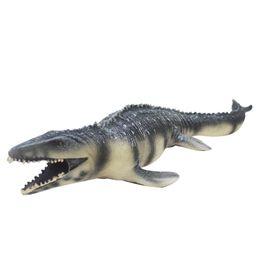pintura de dinossauro Desconto Simulação Big Mosasaurus Toy PVC mole Action Figure pintada à mão modelo animal dinossauro brinquedos para crianças presente C19041501