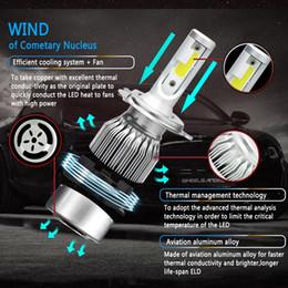 kit de inundação Desconto Bonito 1 Kit de Lâmpada de Conversão Do Farol LEVOU Do Carro Lâmpada Externa Farol Universal para Carro Lâmpada LED Automático Branco 6000 k