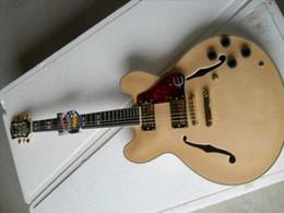 ES-335double f semi - guitare électrique creuse bois couleur or corps accessoires plaque de carapace de tortue rouge ? partir de fabricateur