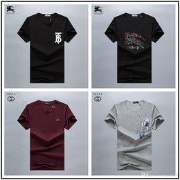 più camicia di tigre di formato Sconti 2019 New Mens Designer T Shirt Girocollo Bee Lettera Tiger Head Print Designer Camicia Slim T Shirt Luxury di alta qualità Plus Size M-3XL