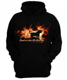 Argentina Sudadera American Bulldog fire and flame de siviwonder Hoodie Suministro