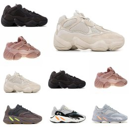 Niños corriendo zapatillas chicas online-Adidas Yeezy Boost 500 700 Blush Desert Rat Infant 500 Runners niños Zapatillas de deporte Utilidad Negro Bebé niño niña Toddler Jóvenes entrenadores Diseñador Niños zapatillas