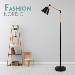 2019 iluminação de pé livre lâmpadas Mármore Nórdico Moderno Piso Lâmpada Sala de Cabeceira Pesca Deco Iluminação Luminária Preto Branco LEVOU Luminária de pé de Chão