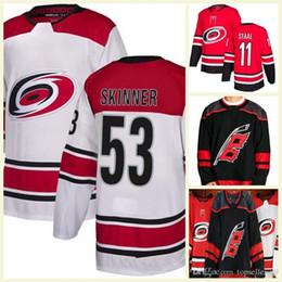 b99e22119 2018 New Season Carolina Hurricanes 53 Jeff Skinner Andrei Svechnikov de  Haan Micheal Ferland Justin Williams Staal Third Hockey Jersey
