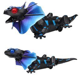 Canada IR RC lézard à collerette Toy Induction extensible Frill Dragon Lizardbot 3 Modes Télécommande Radio Animal 9918 Nouveau Jouet GGA1434 supplier ir toy Offre