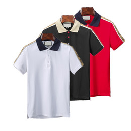 kastenfaltenkleid Rabatt 47v 2020 Frühlings-Polo Luxus T-Shirt Designer Polo Shirts High Street Garter wenig Druck Kleidung der Männer Marken-Polo-Hemd