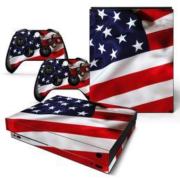 Canada Autocollant Fanstore Skin pour drapeau américain avec protection en vinyle pour console Xbox One X et 2 télécommandes Offre
