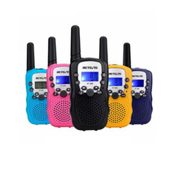 émetteurs-récepteurs de poche Promotion 2pcs Reevis RT388 Kids Walkie Talkie Talkie Children Toy Radio 0.5w PMR PMR446 FRS VOX Flashlight Handheld 2 Way Radio Emetteur-récepteur