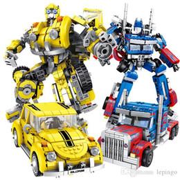 Bloques de robot online-Panlos Transformación Robot City Camión creador Technic Building Blocks Establece juguete educativo para los niños sin caja de regalo