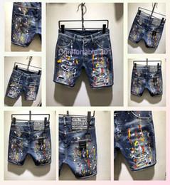 2019 patches de logotipo Novo contador Italiano popular logotipo jeans skinny homens patch remendo magro slim buraco calças jeans homens calções menD81 patches de logotipo barato