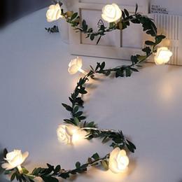 blitzlicht Rabatt HaoXin 10/20 / 40leds Rose Flower LED Lichterketten Batteriebetriebene Hochzeit Valentinstag Event Party Garland Decor Luminaria