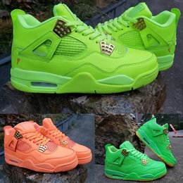 n кроссовки Скидка Баскетбольные кроссовки 4s Флуоресцентный зеленый Спортивные мужские кроссовки Chicago Luxury Running Спортивные кроссовки дизайнерские кроссовки EUR 41-47