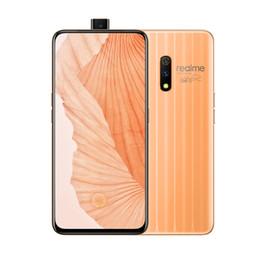 k1 téléphones cellulaires Promotion Téléphone portable d'origine Oppo Realme X 4G LTE 8 Go de RAM 128 Go de ROM Snapdragon 710 Octa Core 6.53 pouces Plein écran 48.0MP d'empreintes digitales ID Téléphone Mobile