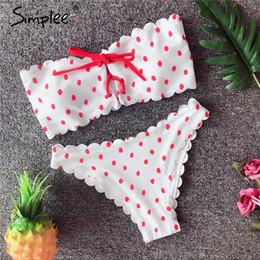 9458c63a2b168 wholesale Sexy dot print push up women lingerie set summer beach two piece  Padded bra set underwear set Open lingerie intimates