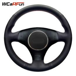 WCaRFun Авто рулевое колесо Черная искусственная кожа Автомобильный руль для A3 3-спица 2000-2003 1999-2005 cheap a3 steering wheel от Поставщики a3 рулевое колесо