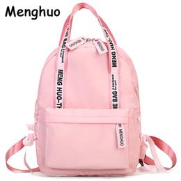 mochila de bowknot Rebajas Menghuo Mochila de gran capacidad para mujeres de muy buen gusto Bolsas escolares para adolescentes Mujer Nylon Bolsas de viaje Niñas Bowknot Mochilas Mochilas # 92360