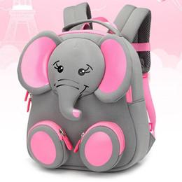 2019 meninas elefantes Nova Moda Crianças Sacos De Escola para Meninas Menino 3D Design Elefante Mochila Escolar Estudante Crianças Saco de Turismo Mochila desconto meninas elefantes