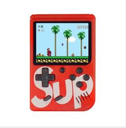 2019 lecteur vidéo Jeux de SUP Console Mini Console de jeux portable Lecteur de jeu vidéo classique Portable Écran couleur 3 pouces 400 jeux AV-out avec boîte de vente au détail lecteur vidéo pas cher