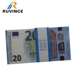 Play Money Toy 100-Pack Copy Euro Bills, un jeu réaliste qui a l'air réel, un personnage à deux faces ? partir de fabricateur