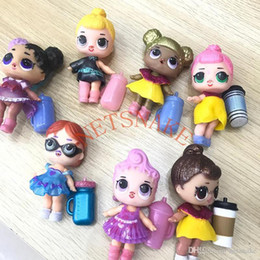 roupas de meninas diy Desconto LOL Bonecas DIY Brinquedos Surpresa Meninas Romdan Modelos boneca Contém Boneca Garrafa Roupas Sapatos Óculos ou Headwear Completa LOL crianças brinquedos