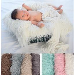 Искусственный мех новорожденный онлайн-Детские мягкие одеяла из искусственного меха старинные фотографии ковер новорожденных длинные плюшевые фото коврик для сотен дней 21js Ww