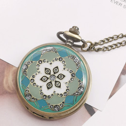colares de moda de quartzo rosa Desconto Relógio de Bolso moda Rose Flor De Quartzo Cadeia Pingente de Colar Das Mulheres Dos Homens de Bolso Relógios Relogio De Bolso