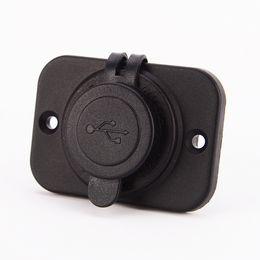 Adaptateur de panneau usb en Ligne-Blanc Panneau de chargeur voiture 2.1A cigarette 5V adaptateur USB allume-pour iPhone pour 5S toutes sortes de téléphone intelligent pour ipad