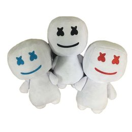 candy toy doll Promo Codes - Marshmello Stuffed Toys 25CM New electronic syllable cotton candy DJ headset 2019 marshmello plush toy doll Halloween gift kids toys C12