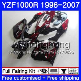 Yamaha thunderace red on-line-Corpo para YAMAHA Chamas vermelhas quente Thunderace YZF1000R 96 97 98 99 00 01 238HM.20 YZF-1000R YZF 1000R 1996 1997 1998 1999 2000 2001 Kit de carenagens