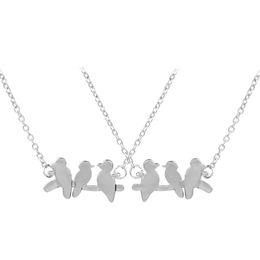 Collana di filiali di uccelli online-Moda delicato rami rami forma collane Carino animale uccello pendente Trendy geometrica origami colibrì collana per le donne