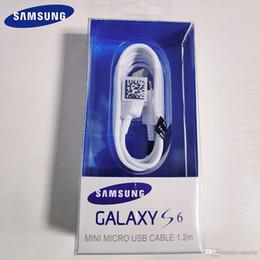2019 оригинальный кабель для передачи данных samsung 100 шт. 100% оригинал для кабеля Samsung 120 см Micro USB-кабель Samsung Galaxy S6 S7 Edge Note 4 5 J3 J5 J7 быстрая зарядка 2A кабель для передачи данных дешево оригинальный кабель для передачи данных samsung