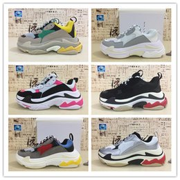 d421bc624ad 2018 New Paris 17FW Triple S Sneaker Popular Dad Casual Luxury Shoes Mens  Women All Black White Grey Red Green Sports Zapatos Size 36-45 on sale
