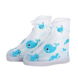 Chaussures de pluie imperméables à l'eau de bande dessinée couvrent la fermeture de fermeture éclair réutilisables antidérapantes pour la botte coupe-vent pour garçons et filles ? partir de fabricateur