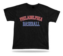 blaues baseball t-stück Rabatt Philadelphia-BASEBALL-T-Shirt T-Stück rotes weißes blaues PA USA-Sommerkleidfeld Lustiges Baumwollt-shirt 100% T-Shirts Kundenspezifisches Jersey-T-Shirt
