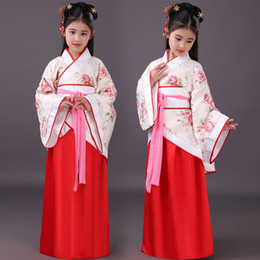 2157953f0a1 dynasty clothes Coupons - Chinese Hanfu Girls Dresses Chinese Kids Costume  Children Ancient Fairy Han Tang