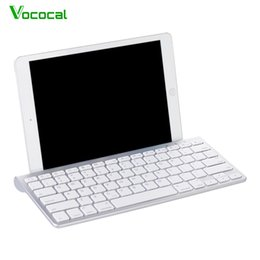 2019 handytastatur zubehör Vococal Ultra dünne drahtlose Bluetooth 3.0 Tastatur Schlüsselbrett Tastatur für Windows Android Tablet-Handy Ipad Zubehör günstig handytastatur zubehör