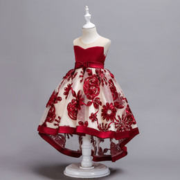 Лучшие свадебные платья девушки онлайн-Свадебное платье Baby Princess Girl's TUTU Dress Качество вышитое платье бальное платье для представления лучший подарок на день рождения 90-150 см