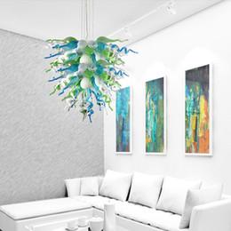 Chambre Turquoise Promotion Vente Chaude Rustique Pendentif Lampes En Verre  Soufflé LED Ampoules Lustre Éclairage Turquoise